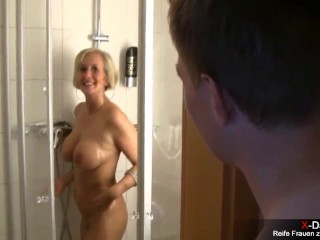 Big dick shower surprise