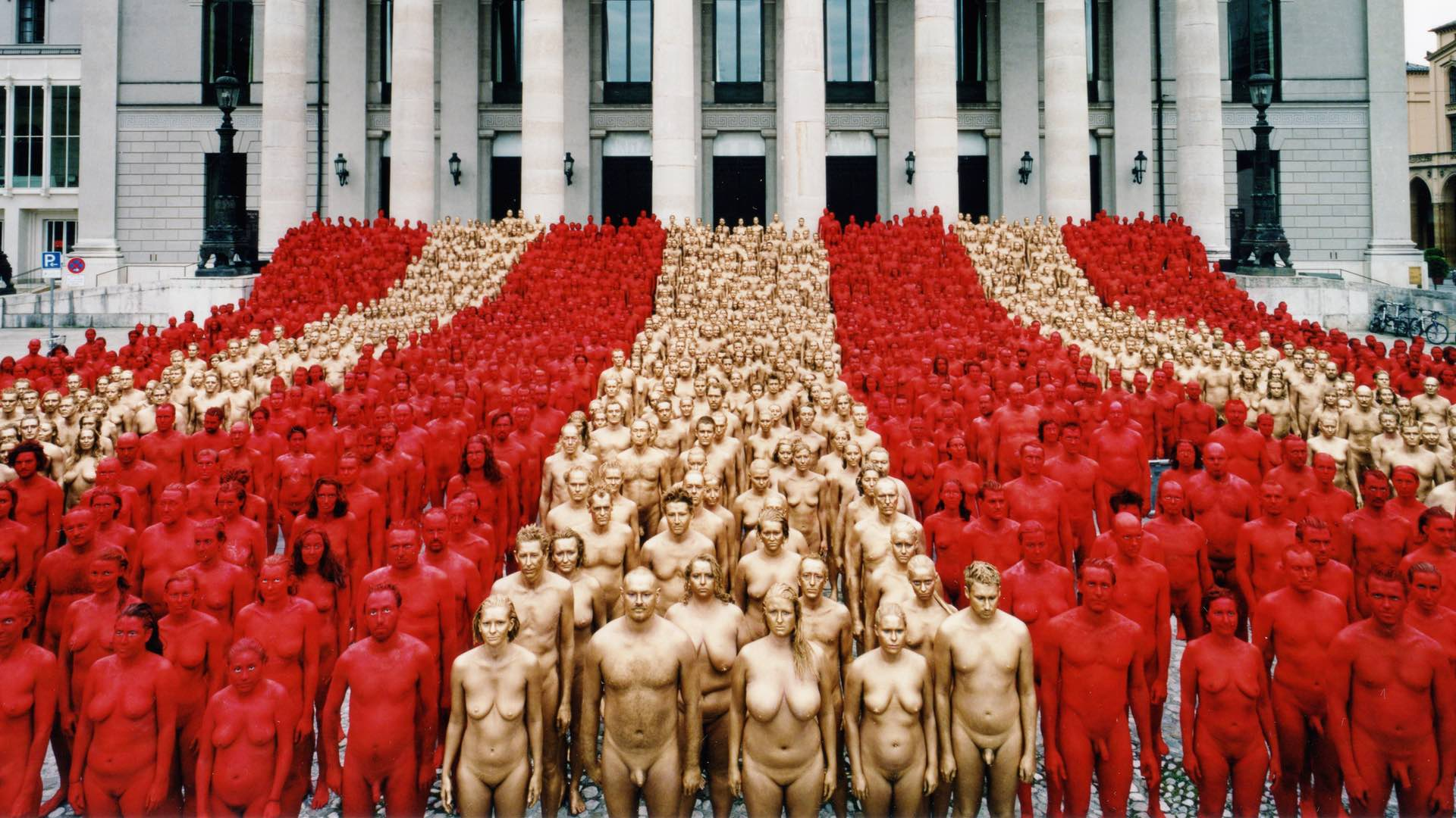 All around me are naked people, naked people, naked people